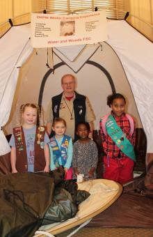 Big Read Dearborn photo - Kickoff - Girl Scouts winter camping