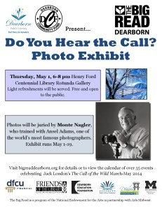 Big Read 2013-14 Flyer Photo Exhibit flyer