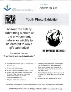 Big Read Dearborn Youth Photo Competition