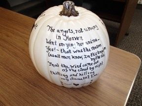 Annabel Lee pumpkin