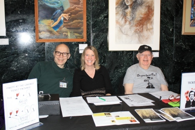 Library Administrator Steve Smith with Dearborn Library Foundation volunteers at Tickets Table