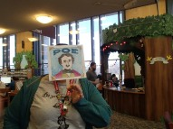 Library staff member Rebecca Hermen as Poe