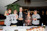 The Welcoming Crew (from left to right: EmmaJean Woodyard, Janet Kondziela, Teresa Lousias, Carol Radke, and Beth Weyer-Utley)