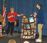 Quilt made by Zaman International with help from the public